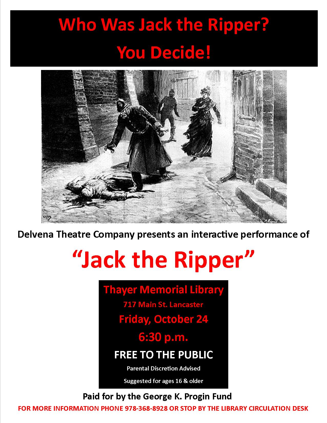 jack the ripper vertical flyer jpeg thayer memorial library