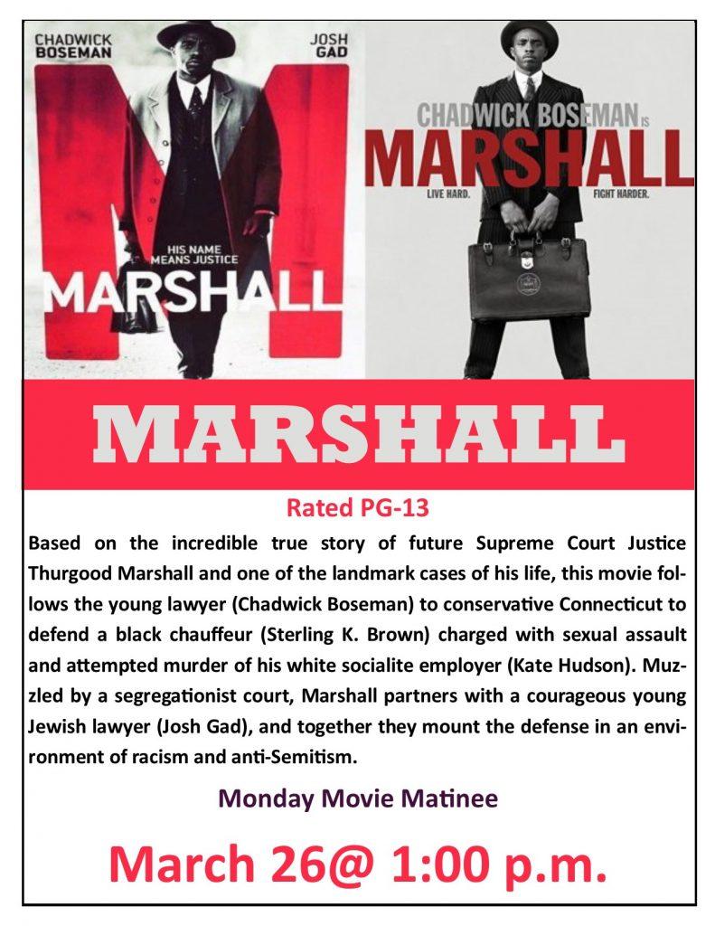 image relating to Marshalls Application Printable referred to as Marshall video printable flyer jpeg Thayer Memorial Library